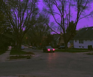 purple, car, and sky image