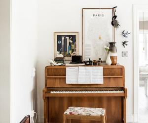 piano, decor, and home image