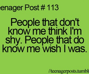 teenager post, shy, and funny image