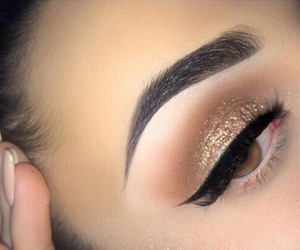 beauty, eyebrows, and eyeliner image