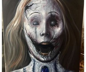 art, creepy, and drawings image