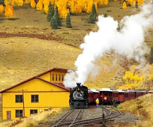 autumn, train, and photography image