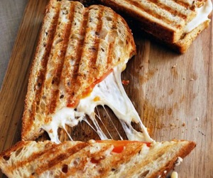 food, cheese, and sandwich image