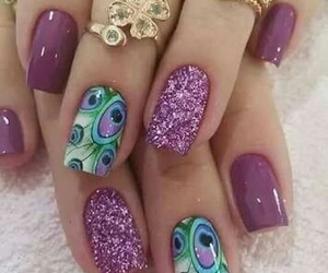 anel, nails, and purple image