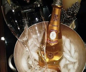 champagne, cristal, and drink image