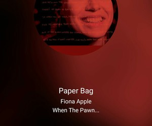 fiona apple, song, and paper bag image