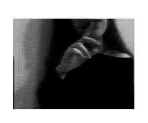 alone, black and white, and broken image