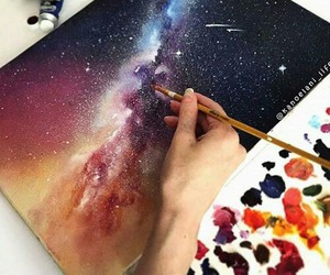 art, galaxy, and color image