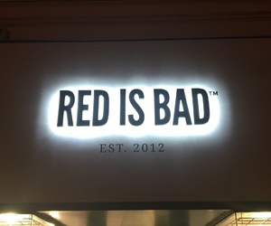 neon, red, and red is bad image
