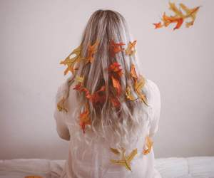 autumn, girl, and orange image