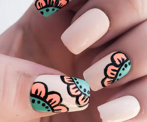 nail art and tropical image