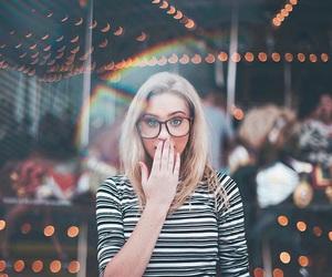 lunettes, photo, and arc en ciel image