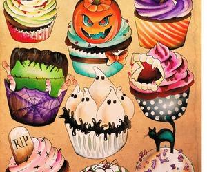 cupcake, Halloween, and sweet image