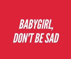 red, sad, and babygirl image