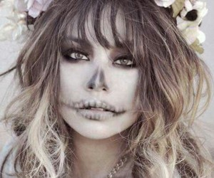 Halloween, flowers, and makeup image