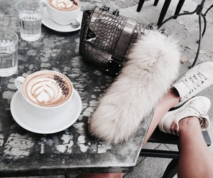 coffee, shoes, and drink image