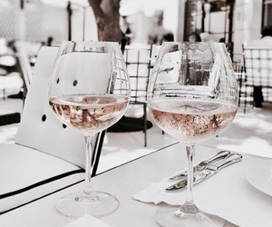 classy, pink, and drinks image