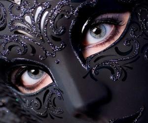 mask, black, and eyes image