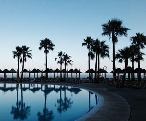 Malaga, palms, and spain image