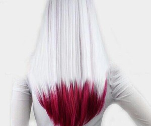 hair, red, and white image