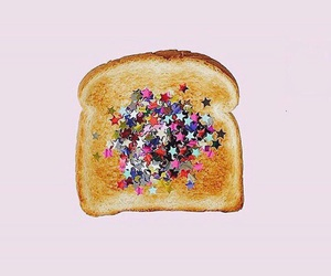 pink, glitter, and bread image