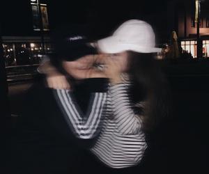 adidas, blur, and dark image