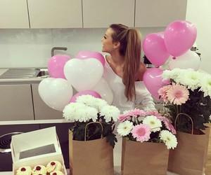 girl, gift, and pink image