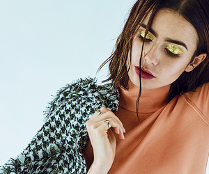 beauty, lily collins, and eyes image