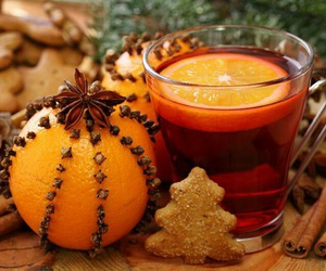 christmas, orange, and winter image