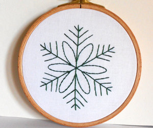 etsy, christmas decoration, and hand embroidered image