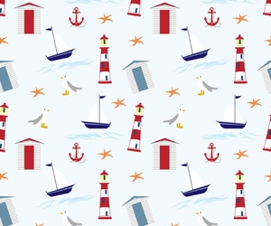 anchor, lighthouse, and pattern image