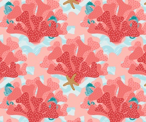 background, starfish, and coral image