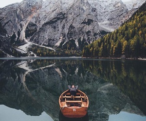 travel, lake, and mountains image