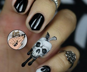 skull, Halloween, and nail art image