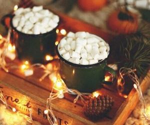 light, christmas, and autumn image