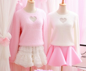 pink, clothes, and cute image