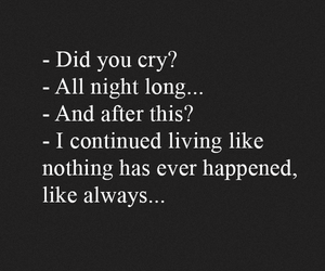 sad, cry, and quote image
