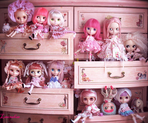 doll, blythe, and pink image