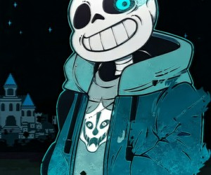 sans, undertale, and genocide image