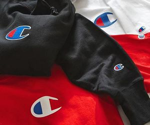 streetwear, champion, and sweater image