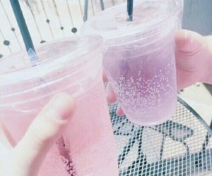 pink, drink, and purple image