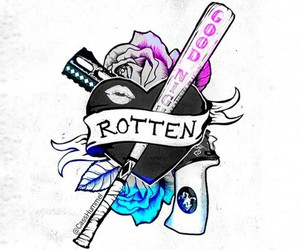 suicide squad, harley quinn, and rotten image