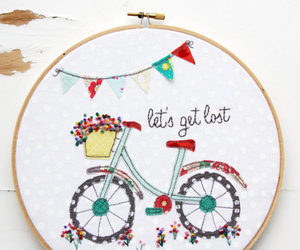 bicycle, diy, and embroidery image