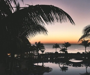 beach, sunset, and Island image