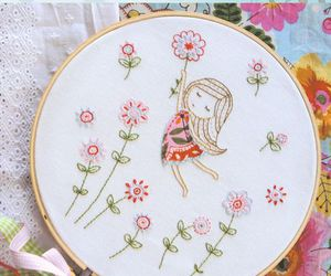 diy, embroidery, and hoop art image