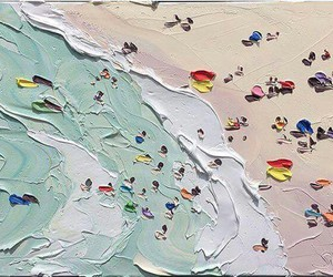 paint, art, and beach image