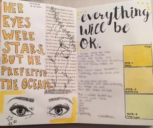 art journal, doodles, and eyes image