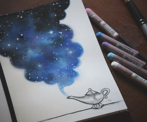drawing, stars, and disney image