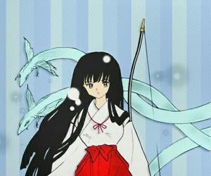 manga, inuyasha, and kikyo image