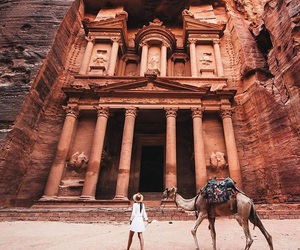travel, jordan, and petra image